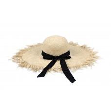 """Шляпа с  """"лучиками"""" , широкое поле (рафия)"""