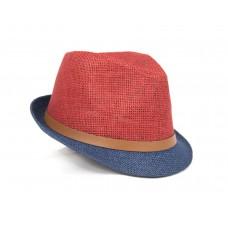 Шляпа трилби лето, двухцветная