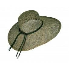 Шляпа соломенная широкополая (лен)
